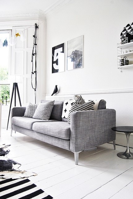 Ikea Karlstad sofa with Isunda cover